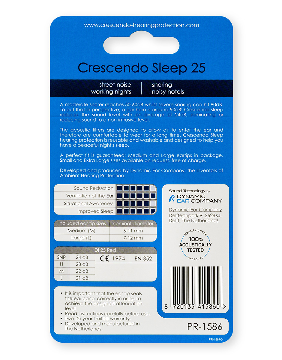 Crescendo - Sleep 25 sovepropper